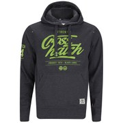 Crosshatch Men's Squirm Neon Print Hoody - Black Marl