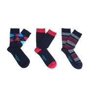 Firetrap Men's Jacquard Logo 3-Pack Socks - Black