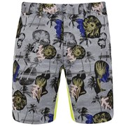 Opening Ceremony Men's Palm Collage Printed Slim-Fit Reflex Shorts - Blush Pink