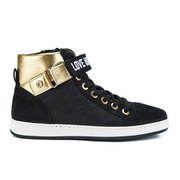 Love Moschino Women's High Rise Hi-Top Trainer - Black