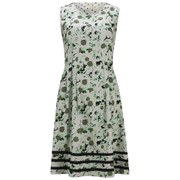 Numph Women's Vera Printed Dress - Subtle Green