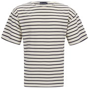 Armor Lux Men's Stripe Crew Neck T-Shirt - Nature/Navy