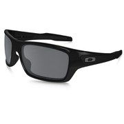 Oakley Turbine Sunglasses - Polished Black/Black Iridium Polarized