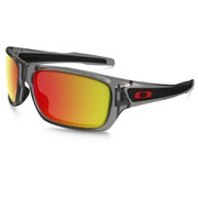 Oakley Turbine Sunglasses - Grey Ink/Ruby Iridium Polarized