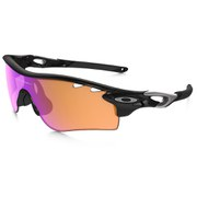 Oakley Radarlock Sunglasses - Polished Black/Prizm Trail and Clear Vented