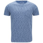 Native Youth Men's Space Dye Curved Hem T-Shirt - Blue
