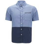 Native Youth Men's Cut and Sew Oxford Shirt - Blue