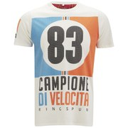 Ringspun Men's Velocity Printed T-Shirt - Off White