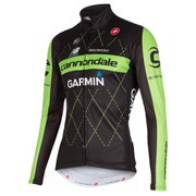Castelli Cannondale Garmin Thermal Long Sleeved Jersey Jersey - Black/Green