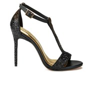 Ted Baker Women's Pwimwrose 2 T Bar Heeled Sandals - Black/Gold Satin