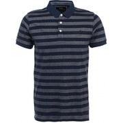 Jack & Jones Men's Cooper Striped Polo Shirt - Black Navy