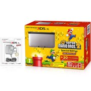 Nintendo 3DS XL Silver/Black + New Super Mario Bros 2