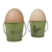 Eddingtons Rooster Egg Cup Buckets - Rooster Sage
