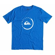 Quiksilver Men's Everyday Active Logo Ink T-Shirt - Victoria Blue