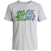 Quiksilver Men's Classic The Ghetto Livin' T-Shirt - Athletic Heather
