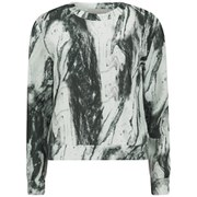 Lavish Alice Women's Marble Print Scuba Sweatshirt - Grey