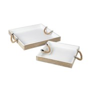 Parlane Tray With Rope Handles - Silver