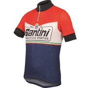 Santini Wool Heritage Short Sleeve 2.0 Jersey - Red