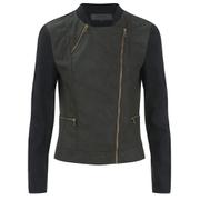 ONLY Women's Duty Cropped PU Jacket - Peat
