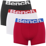 Bench Men's 3-Pack Large Logo Band Boxers - Red/Black/White