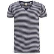 Scotch & Soda Men's Home Alone Twisted Seam Striped T-Shirt - Blue