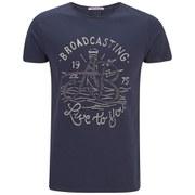Scotch & Soda Men's Vintage Explorer Crew Neck T-Shirt - Navy