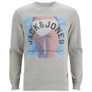 Jack & Jones Men's Originals Mike Crew Neck Sweatshirt - White