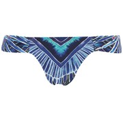 Mara Hoffman Women's Side Ruched Bikini Bottoms - Rising Palm Blue