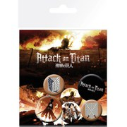 Attack on Titan Characters - Badge Pack
