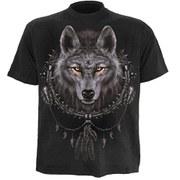 Spiral Men's WOLF DREAMS T-Shirt - Black