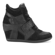 Ash Women's Bowie Suede Hidden Wedged Trainers - Black