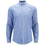 GANT Men's Breton Oxford Shirt - Blue