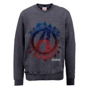 Marvel Avengers Age of Ultron Team Silhouette Logo Sweatshirt - Dark Grey