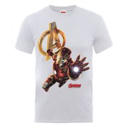 Marvel Avengers Men's Age of Ultron Iron Man T-Shirt - Ash Grey