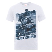 Marvel Avengers Men's Age of Ultron Team Stripes T-Shirt - White