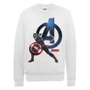 Marvel Avengers Age of Ultron Captain America Sweatshirt - Ash Grey