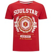 Soul Star Men's Tippolio T-Shirt -  Deep Red