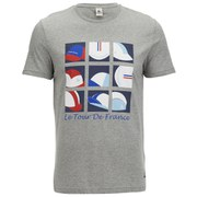 Le Coq Sportif Tour de France 2015 N4 Short Sleeved T-Shirt - Light Grey