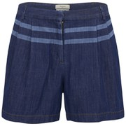 Paul by Paul Smith Women's Chambray Denim Shorts - Blue