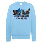 Marvel Guardians of the Galaxy Team Montage Sweatshirt - Sky