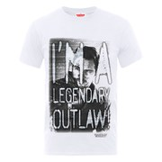 Marvel Guardians of the Galaxy Men's I'm A Legendary Outlaw T-Shirt - White