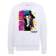 Marvel Guardians of the Galaxy Star-Lord Mask Art Sweatshirt - White