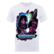 Marvel Guardians of the Galaxy Men's Star-Lord Pose T-Shirt - White