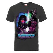 Marvel Guardians of the Galaxy Men's Star-Lord Pose T-Shirt - Charcoal