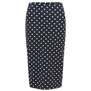 The Fifth Women's Hey Blondie Polka Dot Skirt - Navy