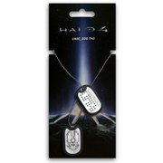 Halo 4 Unsc Brushed Metal Finish Dog Tags