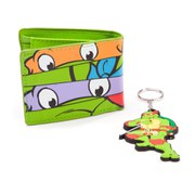 Teenage Mutant Ninja Turtles Masks Bi-fold Wallet and Key Chain Gift Set