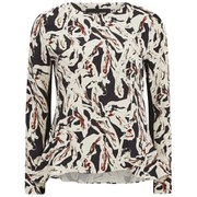 Karl Lagerfeld Women's Swirl Printed Long Sleeve Top - Paint Swirl