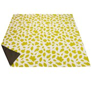 Anorak Woodland Leaves Picnic Blanket - Green/White