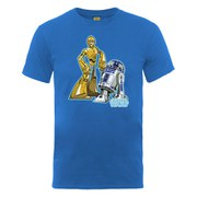 Star Wars Men's C-3PO and R2-D2 Character T-Shirt - Royal